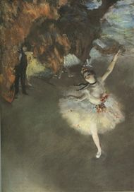 Artist: Degas  Title: Prima Ballerina,   oil on canvas, 1876 my favorite series