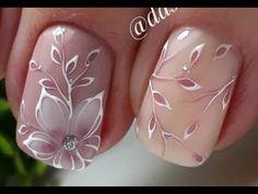 Stylish nail design Spring 2019 Top 10 Trendy Fashion Ideas by Nail art Elegant Nail Designs, Flower Nail Designs, Elegant Nails, Stylish Nails, Nail Art Designs, Trendy Nails, Nail Design Spring, New Nail Art Design, Spring Nail Art