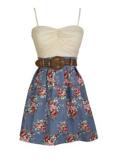 Country Girl Style. | Floral dresses | Pinterest | Country girl ...
