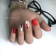 84f83c5fe17fdf Красный маникюр 2019: 100+ фото новинок, модные тенденции, идеи Чорний  Манікюр,