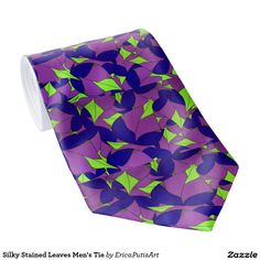 Silky Stained Leaves Men's Tie by Erica Putis - http://www.zazzle.com/silky_stained_leaves_mens_tie-151950944042184774
