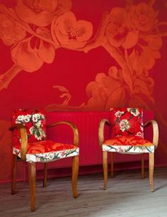 Flower painting chair