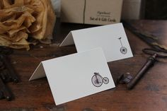 "Flywheel — Boxed set of letterpress ""bike"" note cards"