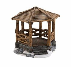 Department 56 Accessories for Village Collections Woodland Stone Gazebo General Accessory, 3.82-Inch