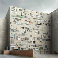 Filip Dujardin is fine art and architectural photographer based in Belgium. Dujardin'sFictions is a series of fictional structures created using a digital collaging technique from photographs of real buildings