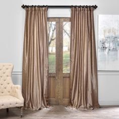 Shop for Exclusive Fabrics Vintage Textured Faux Dupioni Silk Curtain. Get free delivery at Overstock.com - Your Online Home Decor Outlet Store! Get 5�0in rewards with Club O!