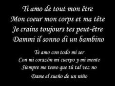 Ti amo - Umberto Tozzi ft Lena Ka Letra y Traduccion