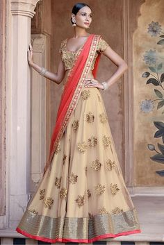 Net Party Wear Lehenga Choli in Cream and Red Colour.It comes with matching Dupatta and Bottom.It is crafted with Embroidery,Lace Work Design. -https://www.cooliyo.com/product/91405/net-party-wear-lehenga-choli-in-cream-and-red-colour/