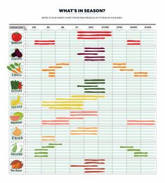 Your Guide to Seasonal Fruits and Vegetables