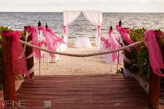 Ocean coral and turquesa-our ceremony location