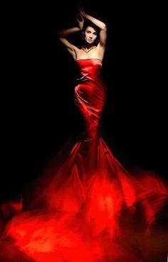 wonderful red evening dress