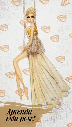 Learn how to do this pose! Fashion Illustration - Pose Template - Sketches - Fayci Tage
