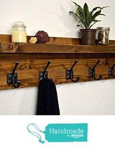 Handmade Floating Shelf Coat Rack Light Walnut from RusticModernDecor https://www.amazon.com/dp/B01H9TO35W/ref=hnd_sw_r_pi_dp_wAR9xb7V655BY #handmadeatamazon