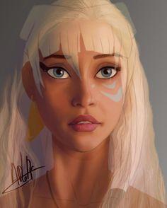 Art vs Actress#5 -Daenerys Targaryen+Kidagakash by APlaPi