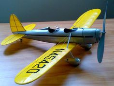 Rubber-powered Ryan ST. Wingspan 16 inches.