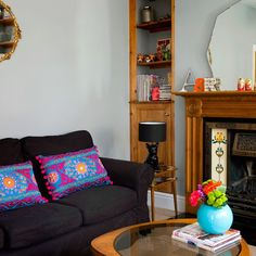 Living room corner| End of terrace house | House tour | PHOTO GALLERY | Style at Home | Housetohome.co.uk