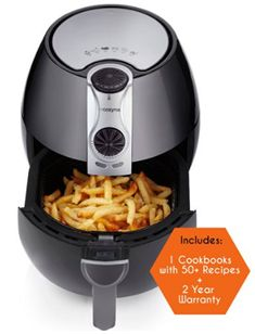 Air Fryer by Cozyna, Low Fat Healthy and Multi Cooker with Rapid Air Circulation System, L with 2 e-cookbooks Included (over 50 recipes) - Cool Kitchen Gifts Home Deep Fryer, Best Air Fryer Review, Air Fryer Deals, Catering, Fryer Machine, Air Fryer Fried Chicken, Healthy Fries, Electric Air Fryer, Air Fry Recipes