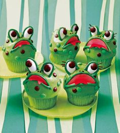 Big Mouth Frog -cupcakes