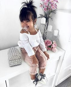 Cute Baby Girl Clothes Outfits Ideas - Cute Baby Clothes - - The most beautiful children's fashion products Cute Baby Girl Outfits, Cute Baby Clothes, Toddler Outfits, Babies Clothes, Children Outfits, Infant Girl Clothes, Summer Clothes, Hipster Baby Clothes, Clothes Sale