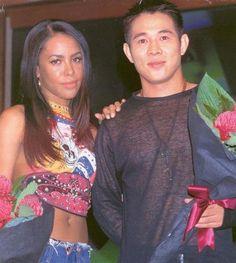 aaliyah haughton and Jet Li Jet Li, Martial, Aaliyah Style, Hip Hop, Aaliyah Haughton, Toni Braxton, Interracial Couples, Her Music, Bruce Lee