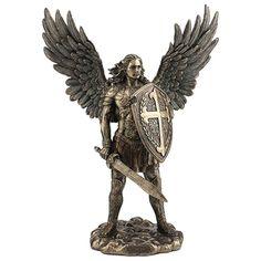 Archangel Michael Tattoo, St Michael Tattoo, Religious Tattoos, Religious Art, Religious Gifts, Saint Michael Statue, Saint Michael Angel, Statue Ange, Figurine Dragon