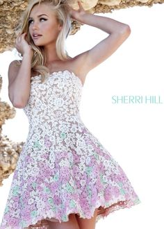 Sherri Hill 11053 Short Lace Dress Mehr