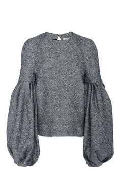 Emmy Constructed Blouson Sleeve Top by HELLESSY for Preorder on Moda Operandi