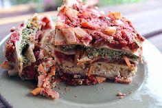 Mom's Best Lasagna with Homemade Cashew Parmesan, Vegan Ricotta, Pesto and Marinara