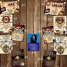 Custom Pirate Party Invitations by itsJenuine on Etsy