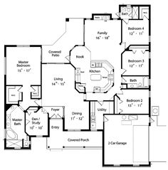 Floor Plan - Main Floor Plan ❤️entry/foyer to dining and living
