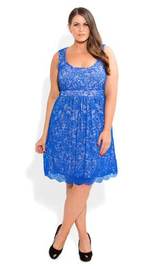 City Chic - WOW LACE DRESS - Women's plus size fashion