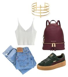 """Cutie pie"" by kamreestewart on Polyvore featuring Puma, Levi's, Michael Kors and BauXo"