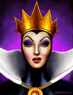 *Evil queen grimhilde/old hag ~ snow white and the seven dwarf's, 1937 Disney Villains Art, Disney Fan Art, Disney Love, Walt Disney, Disney Pixar, Disney Evil Queen, Snow White Evil Queen, Queen Drawing, Disney Queens