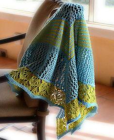 Travelling companion shawl - free ravelry pattern