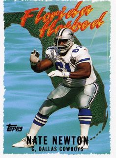 RARE 1995 TOPPS FLORIDA HOTBED NATE NEWTON DALLAS COWBOYS MINT #DallasCowboys