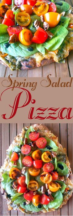 The next time you make salad, place it on a flatbread pizza recipes and serve it as a fun snack. Don't just eat boring healthy salads! Make salads more appetizing by putting them on pizza.