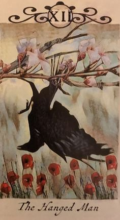Featured Card of the Day - The Hanged Man - Crow Tarot by M. Tarot By Cecelia, Painting Illustration, Tarot Art, Hanged Man Tarot, Painting, Art, Card Illustration, The Hanged Man, Tarot Card Artwork