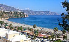 Burriana Beach, Nerja, Spain Andalucia, Cosy, Nerja Spain, Dolores Park, Beaches, Travel, Viajes, Traveling, Trips