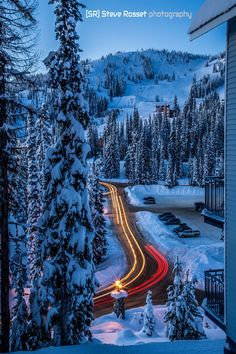 Twilight magic at Silver Star Ski Resort - BC, Canada  (by Steve Rosset Photography)