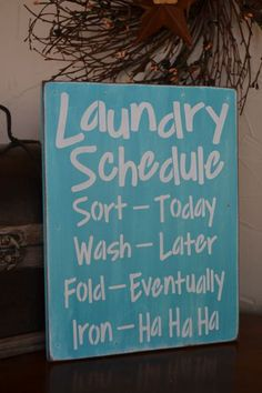 Laundry Schedule Laundry Room Decor 9x12 by CreativeTouchWood, $18.95