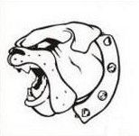 Bulldog Graphic. School Spiritwear Shirts and Apparel.  http://spiritwearshirts.com/ #bulldog #schoolspiritwear
