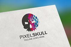 Pixel Skull Logo by tkent on @creativemarket