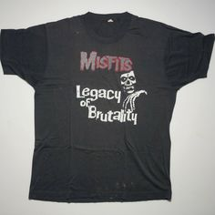 A personal favorite from my Etsy shop https://www.etsy.com/listing/466279412/vintage-misfits-legacy-of-brutality-read