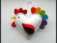 DIY Crafts - How to Make a Felt Rooster Ornament + Tutorial ., My Crafts and DIY Projects