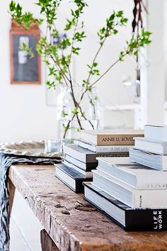 spindly branches and books-spring time