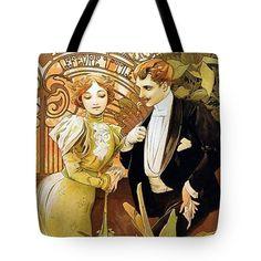 Alphonse Mucha Flirt Vintage Romantic Art Nouveau Mini Art Print by Art Gallery - Without Stand - x Postcard Art, Postcard Design, Art Nouveau, Art Deco, Alphonse Mucha Art, Art Gallery, Vintage Advertisements, Traditional Art, Vintage Art