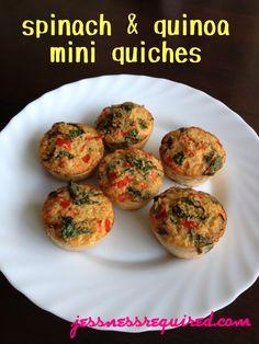 spinach & quinoa mini quiches