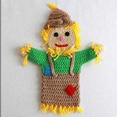 Picture of Storybook Puppets: Wizard of Oz Set 2 Pattern Cute Crochet, Crochet Motif, Crochet Designs, Crochet Toys, Crochet Appliques, Glove Puppets, Hand Puppets, Puppet Patterns, Crochet Dolls