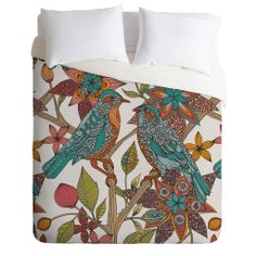 Valentina Ramos Lovebirds Duvet Cover | DENY Designs Home Accessories