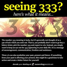 ∆ Numbers... Seeing 333? Learn more at http://numerologysecrets.net/numerology-333-meaning/ #numerology